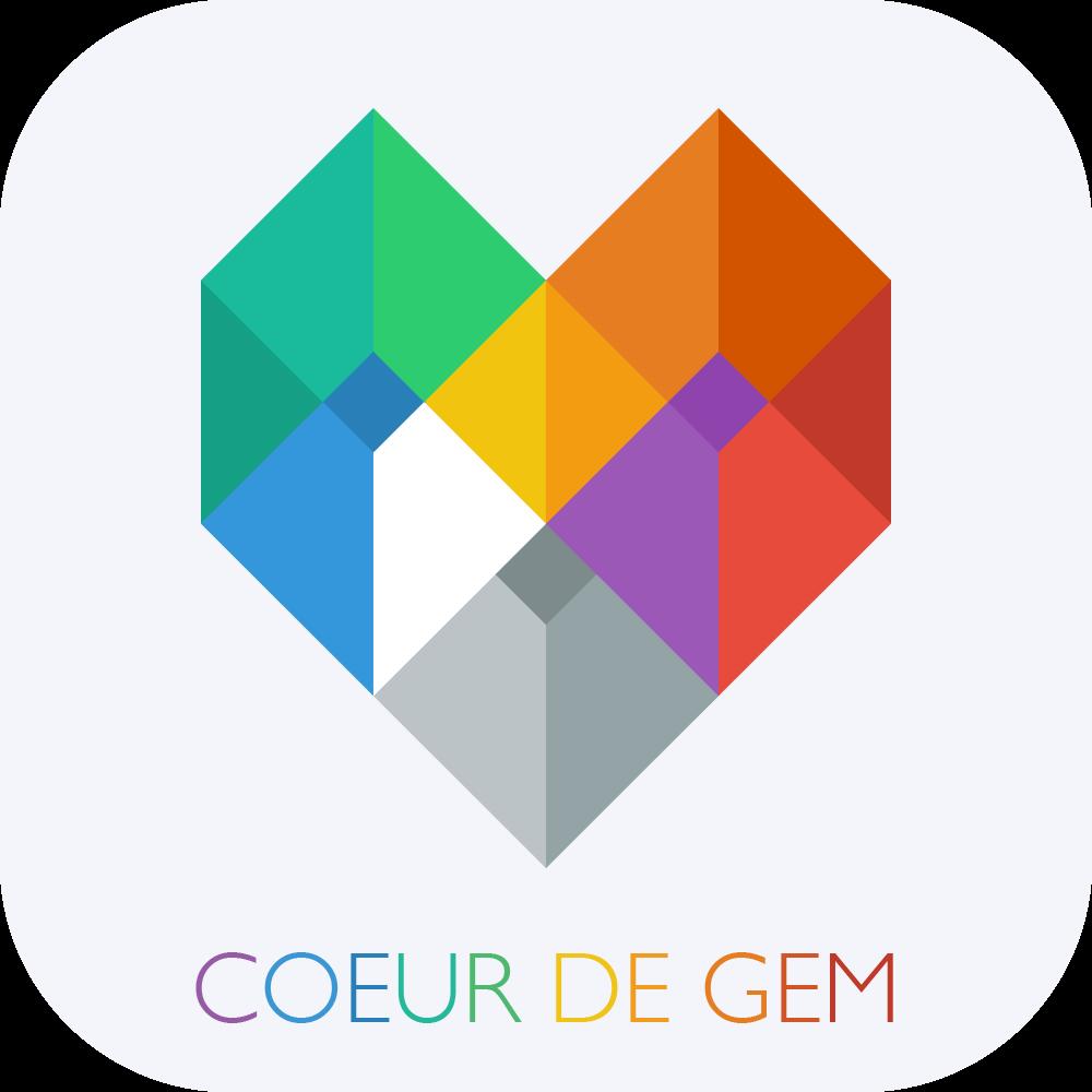 logo Coeur de Gem - Bijoux personnalisés sur iPhone & iPad